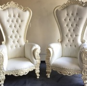 white throne chairs