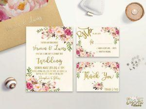 Floral Design Invitations