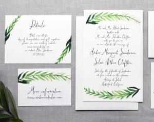Greenery Style Invitations