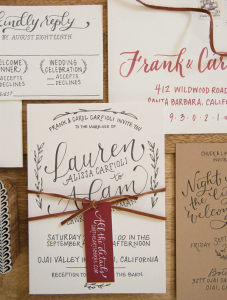 calligraphy style invitations